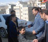 دیدار رئیس شورای شهر و شهردار رودهن با ۲ کودک رودهنی