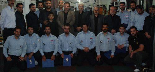 تجلیل از آتش نشانان شهرداری رودهن