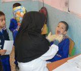 اجرای طرح وار نیش فلوراید دندان های کودکان در مدرسه ارشاد