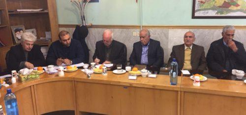 ديدار معتمدين و جمعي از شهروندان  رودهن با اعضاي شوراي اسلامي شهر  و مهندس كچويي شهردار