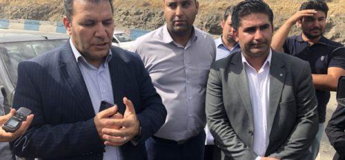 بازدید اعضای شورای عالی استان و شهرستان از پروژه استانی تعریض پل ورودی شهر رودهن